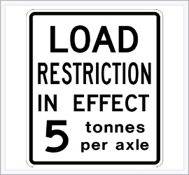 load restriction sign