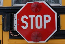 school bus stop sign225